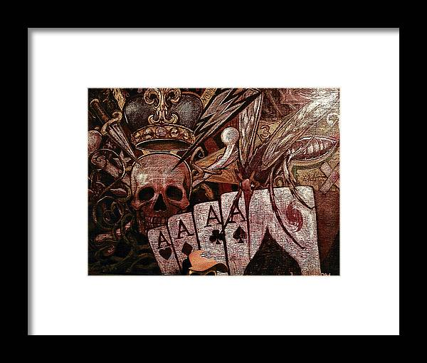 Skull Framed Print featuring the painting Louisiana's Ruin by Will Le Beouf