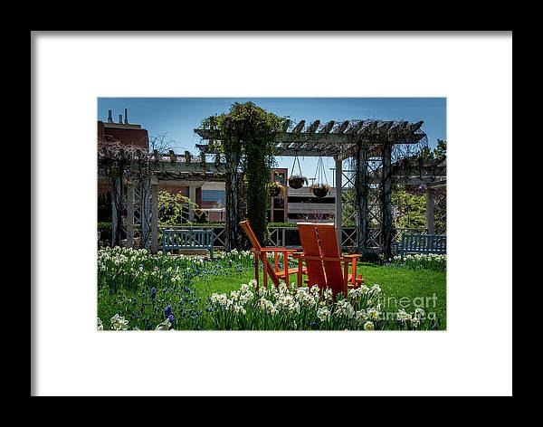 Madison Framed Print featuring the photograph Lounging by Deborah Klubertanz