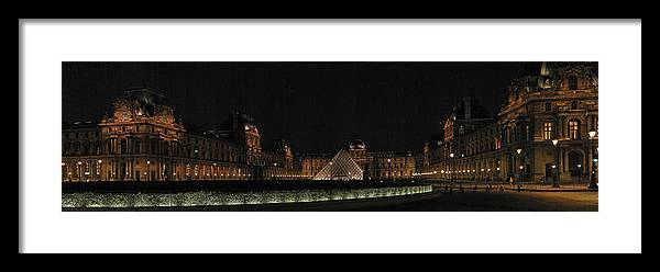 Louvre Framed Print featuring the photograph Louvre by Gary Lobdell
