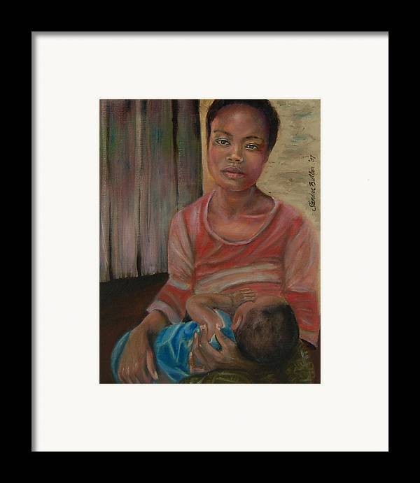 Mother Framed Print featuring the painting Love And Despair by Sandra Butler