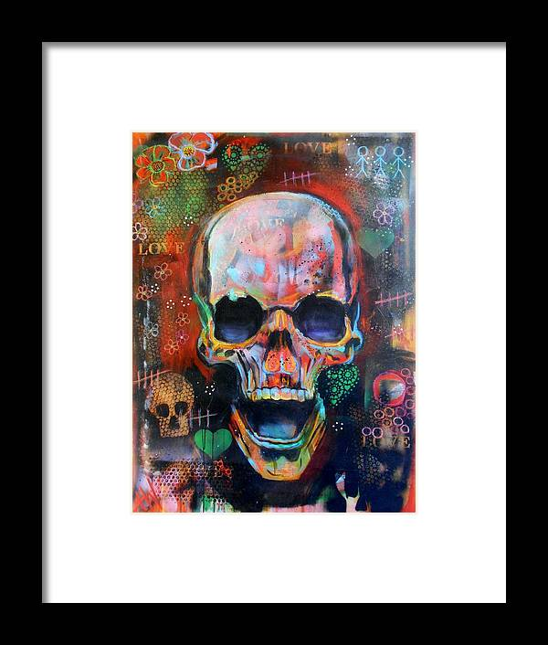 Art Framed Print featuring the painting Love And Life by Angie Wright