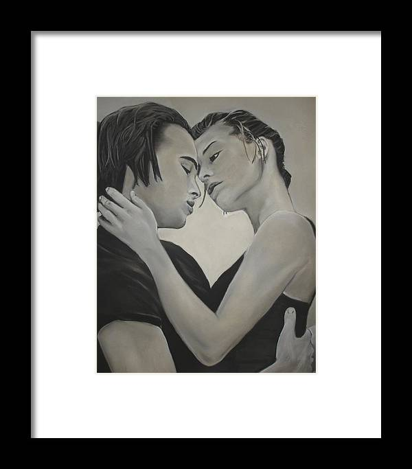 Charcoal Framed Print featuring the drawing Love And Longing by Kerra Lindsey