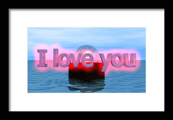 Framed Print featuring the digital art Love by Andreas R Wesener