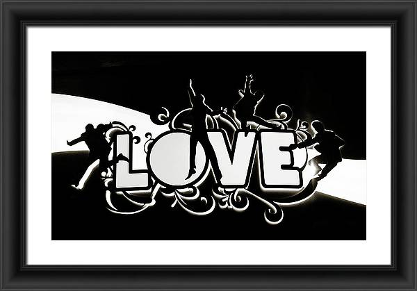 LOVE Beatles Sign Vegas by Marilyn Hunt