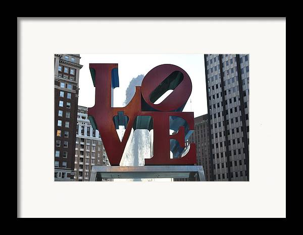 Philly Framed Print featuring the photograph Love by Brynn Ditsche