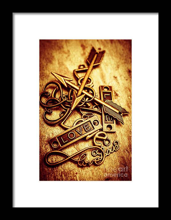Love Charms In Romantic Signs And Symbols Framed Print By Jorgo