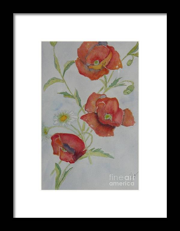 Flower Framed Print featuring the painting Love by Djl Leclerc
