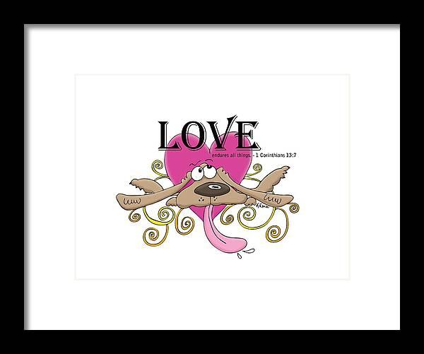 Love Framed Print featuring the digital art Love Endures by Kristin Renee