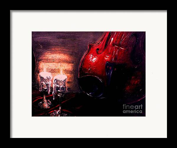 Love Framed Print featuring the painting Love For Music by Patricia Awapara