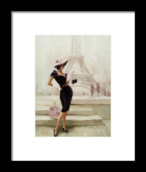 Paris Framed Print featuring the painting Love, From Paris by Steve Henderson