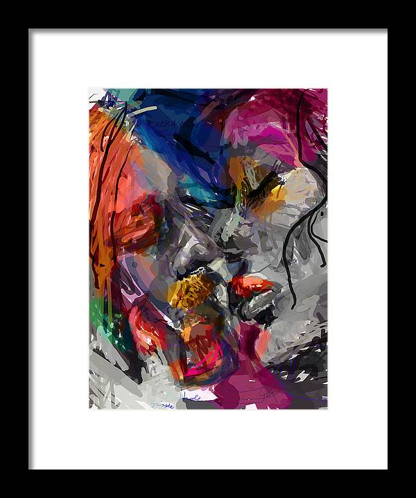 Man Framed Print featuring the digital art Love Hate Being by James Thomas