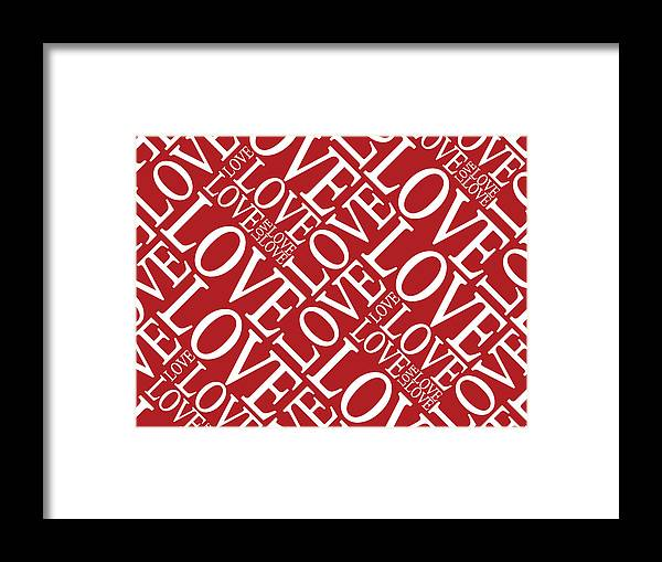 Love Framed Print featuring the digital art Love In Red by Michael Tompsett