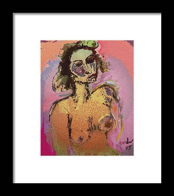 Love Framed Print featuring the painting Love In The Air by Noredin Morgan