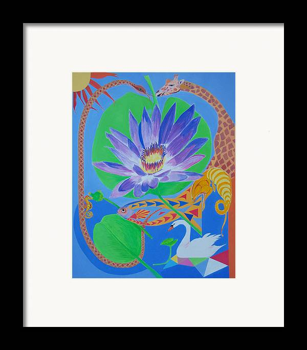 Acrylic Framed Print featuring the painting Love In The Garden Of Eden by Seema Gill