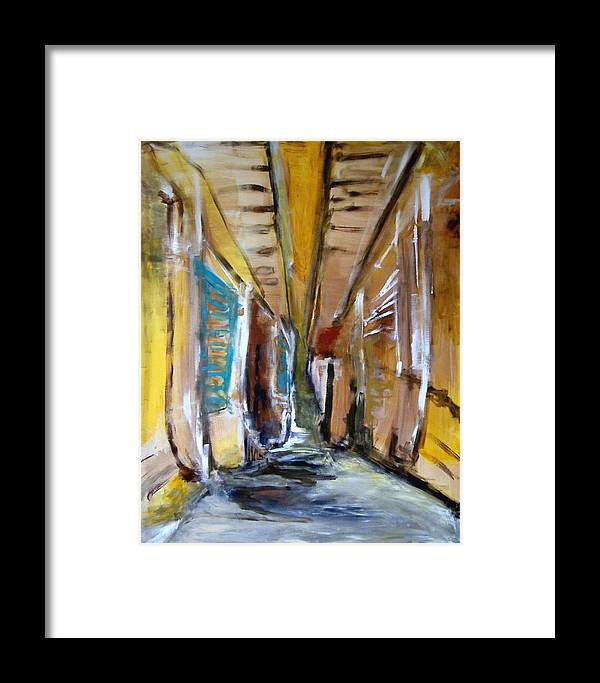 Abstract Framed Print featuring the painting Love Interpretation by Rome Matikonyte