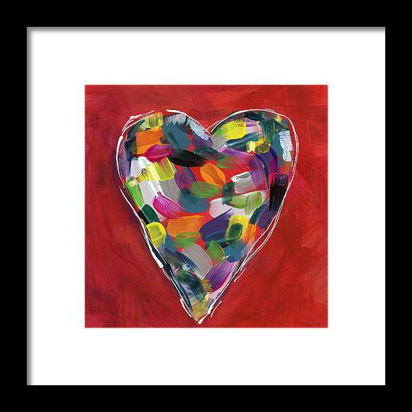 Heart Framed Print featuring the painting Love Is Colorful - Art By Linda Woods by Linda Woods