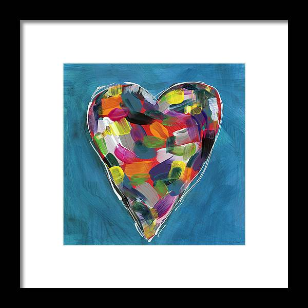 Love Is Colorful in Blue- Art by Linda Woods by Linda Woods