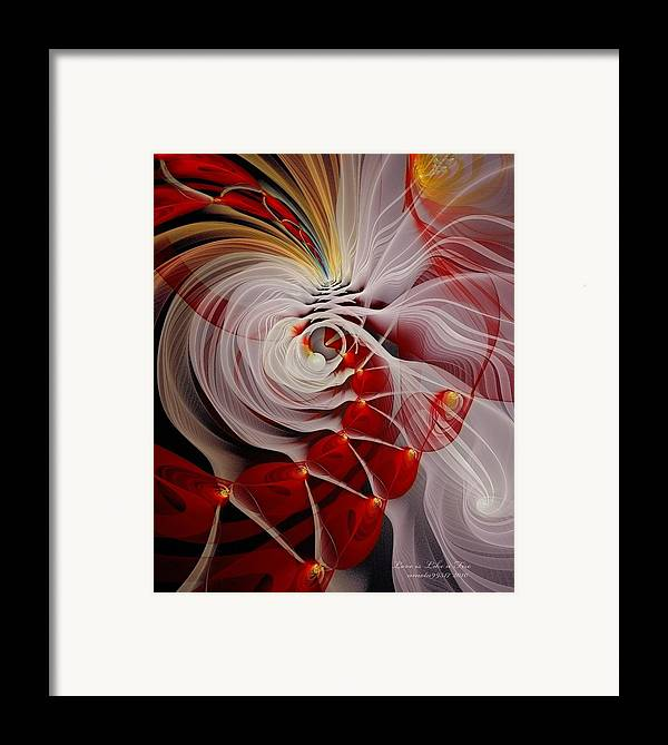 Fractal Framed Print featuring the digital art Love Is Like A Fire by Gayle Odsather