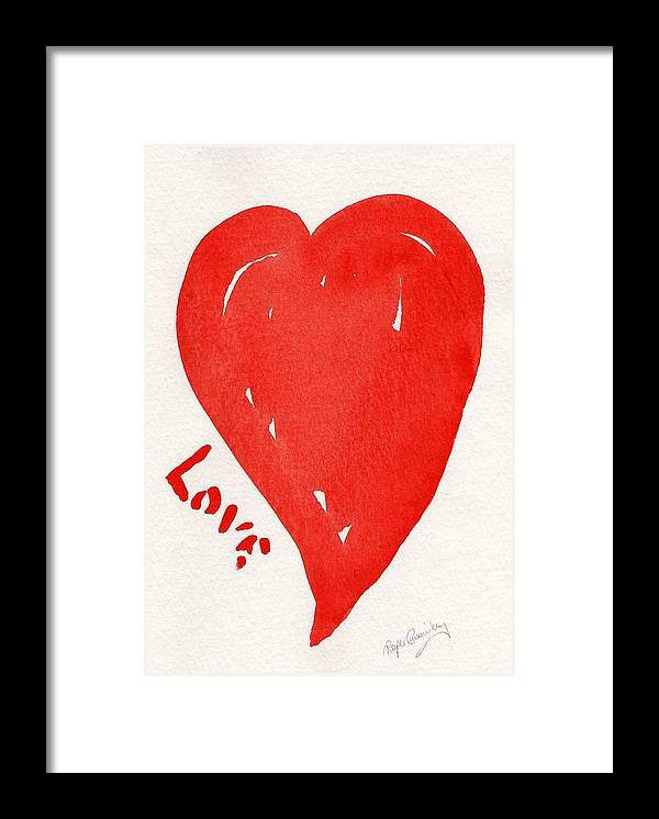 Love Framed Print featuring the painting Love Is.... by Roger Cummiskey