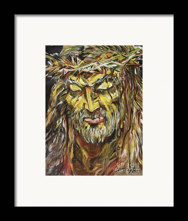 Jesus Framed Print featuring the painting Love by Joseph Palotas