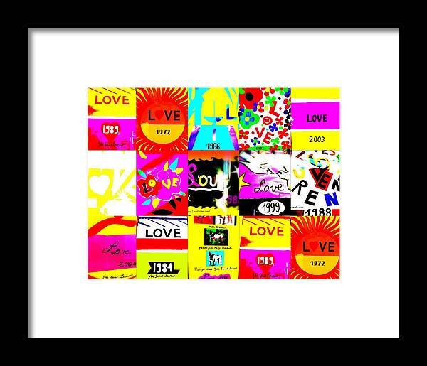 Love Framed Print featuring the photograph Love Love Love by Funkpix Photo Hunter