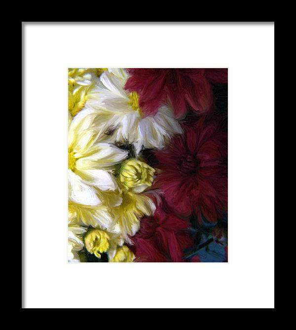 Floral Framed Print featuring the painting Love Me by Evelyn Patrick