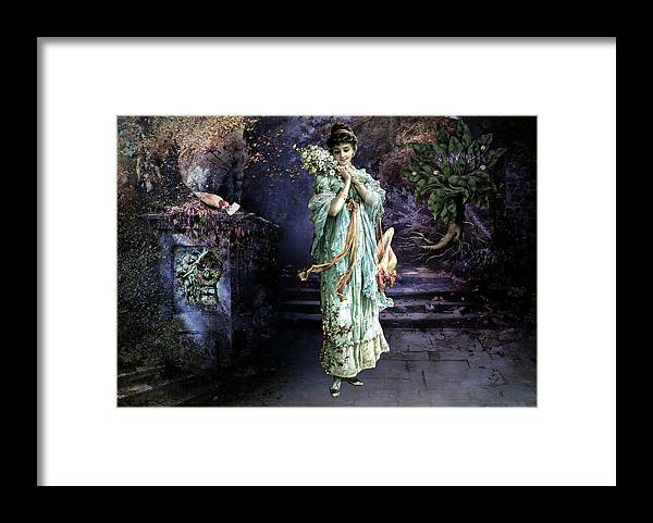 Women Framed Print featuring the painting Love Note by Laura Botsford