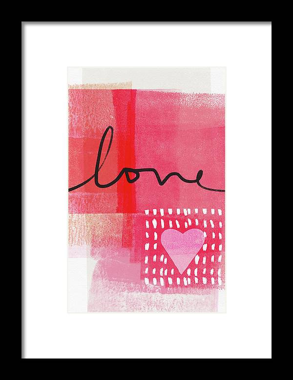 Love Framed Print featuring the mixed media Love Notes- Art by Linda Woods by Linda Woods