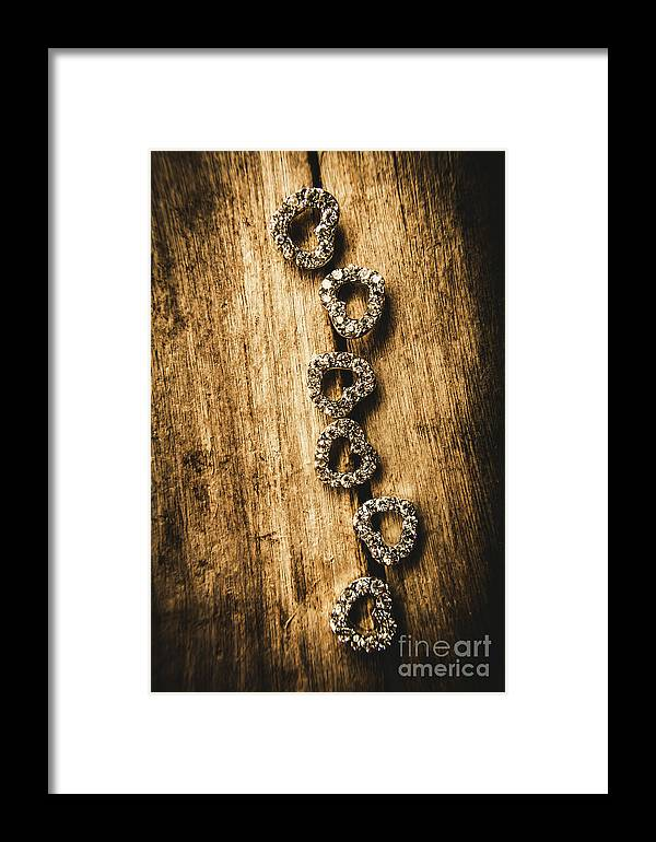 Jewellery Framed Print featuring the photograph Love Of Rustic Jewellery by Jorgo Photography - Wall Art Gallery