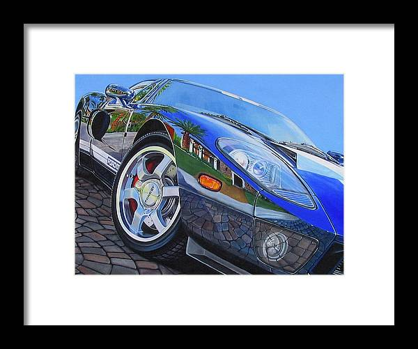 Car Framed Print featuring the painting Love On The Rocks by Lynn Masters