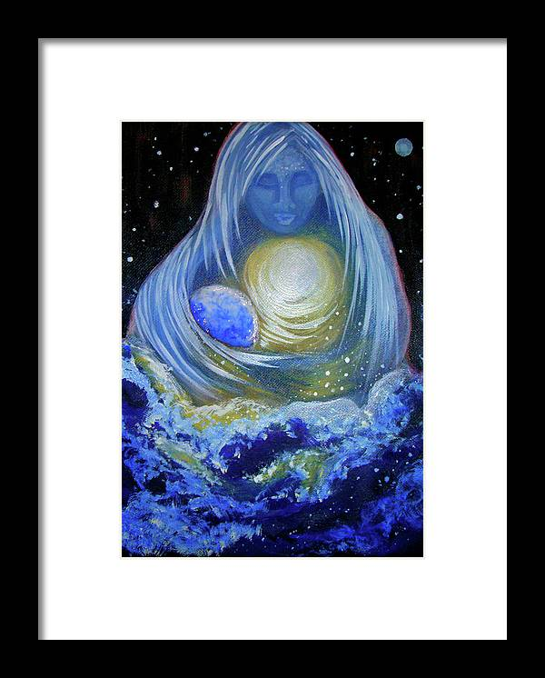 Ocean Framed Print featuring the painting Love by Pam Ellis