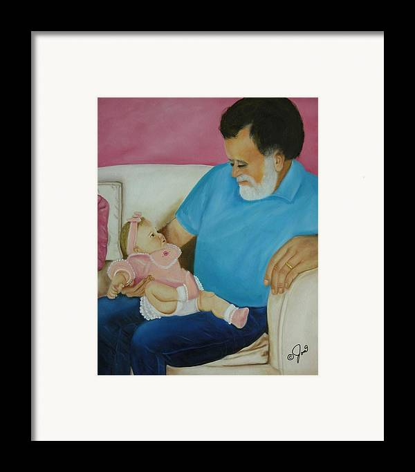 Children.child Framed Print featuring the painting Love Passed On Through The Years by Joni McPherson