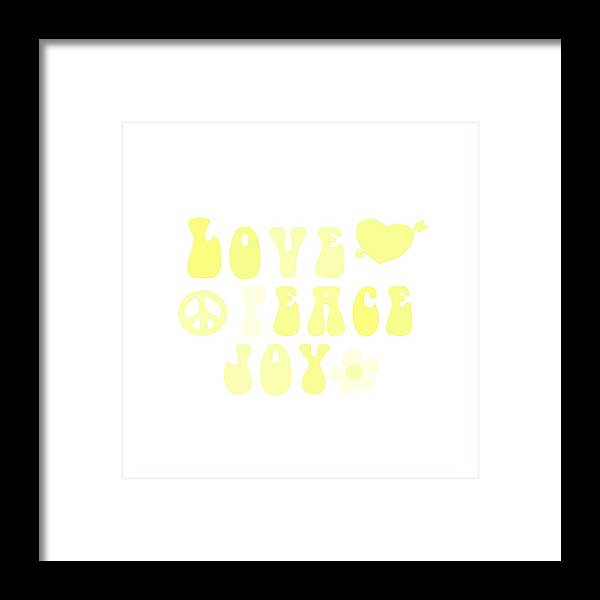 Illustration Framed Print featuring the painting Love Peace And Joy 4 by Celestial Images
