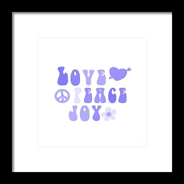 Illustration Framed Print featuring the painting Love Peace And Joy 7 by Celestial Images