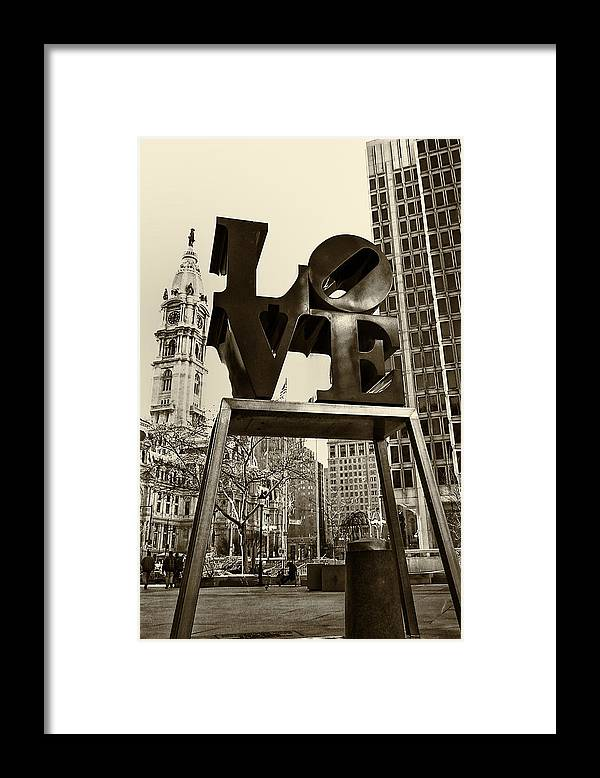 Love Framed Print featuring the photograph Love Philadelphia by Jack Paolini