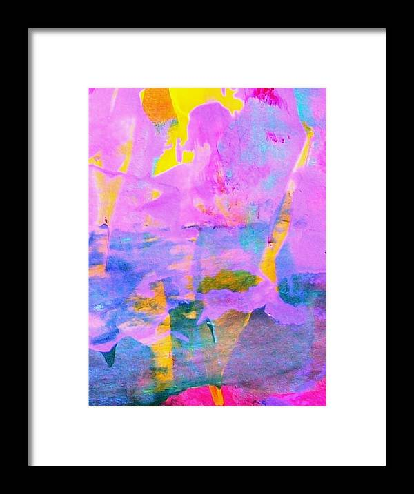 Pink Framed Print featuring the painting Love Recreates The Sunny Funny Joys Of Summer In Our Darkest Winter Days And Nights by Bruce Combs - REACH BEYOND