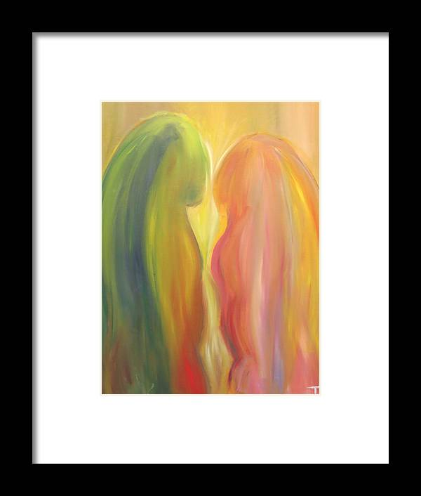 Spirit Framed Print featuring the painting Love Spirit by Taly Bar
