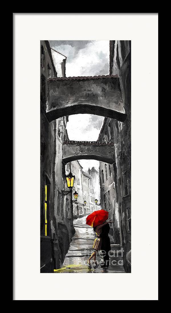 Black Framed Print featuring the digital art Love Story by Yuriy Shevchuk