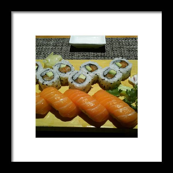 Sushi Framed Print featuring the photograph Love Sushi by Samantha Poli