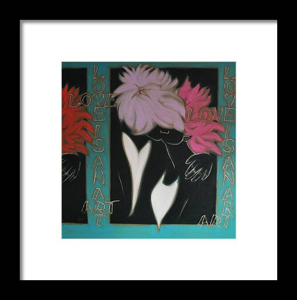 Pop Art Framed Print featuring the painting Love by Varvara Stylidou