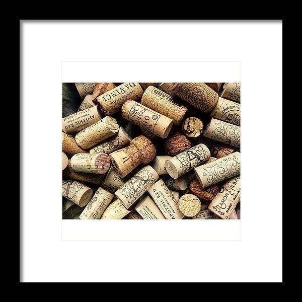 Abundance Framed Print featuring the photograph Love Wine! #wine #juansilvaphotos #cork by Juan Silva