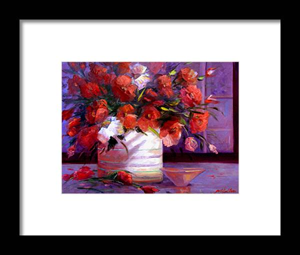 Floral Framed Print featuring the painting Love You Susi  by Gail Salitui