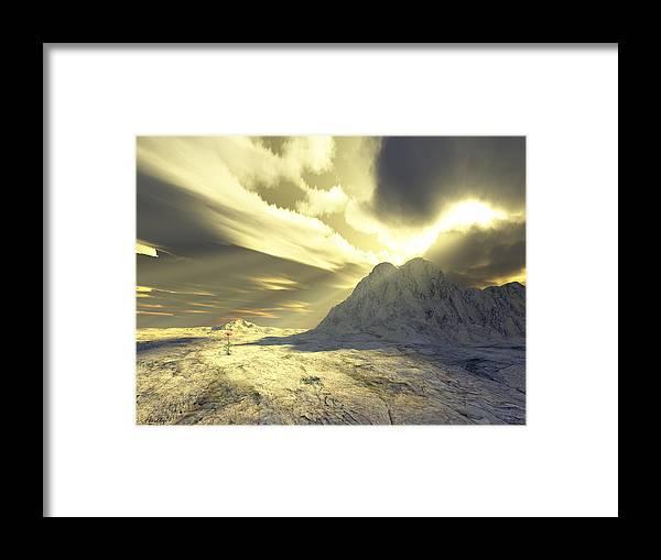 Loved Framed Print featuring the digital art Loved - Never Forgotten by Jennifer Kathleen Phillips