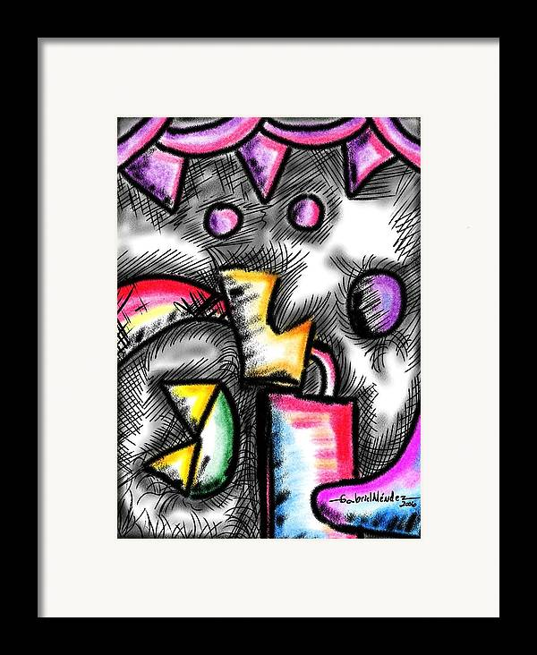 Color Framed Print featuring the painting Lovely Color by Gabriel Mendez