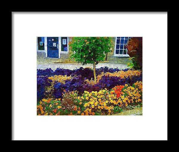 Colorful Flowers Framed Print featuring the painting Lovely Colors by Deborah Selib-Haig DMacq