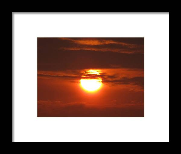 Sunset Photography Framed Print featuring the photograph Lovely Evening by Evelyn Patrick