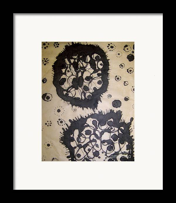 Abstract Framed Print featuring the painting Lovely Mutation by Angela Dickerson