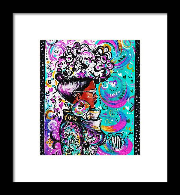 Afro Framed Print featuring the photograph Lovely by Artist RiA