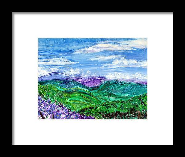 Yupo Paper Framed Print featuring the painting Lovely View Santa Inez by Sarah Hornsby