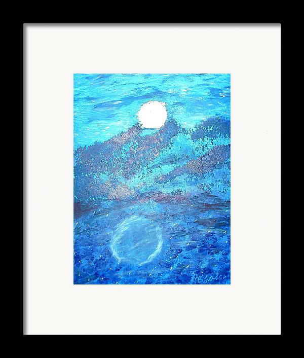 Acrylic Framed Print featuring the painting Lover's Moon by BJ Abrams